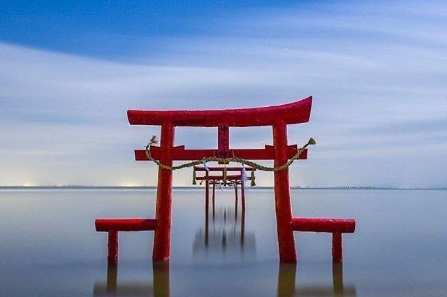 Kaichu Torii, Tara, Saga, Japan, 海中鳥居, 太良, 佐賀, 日本
