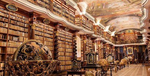 Klementinum, Baroque Library, Prague, Czech Republic