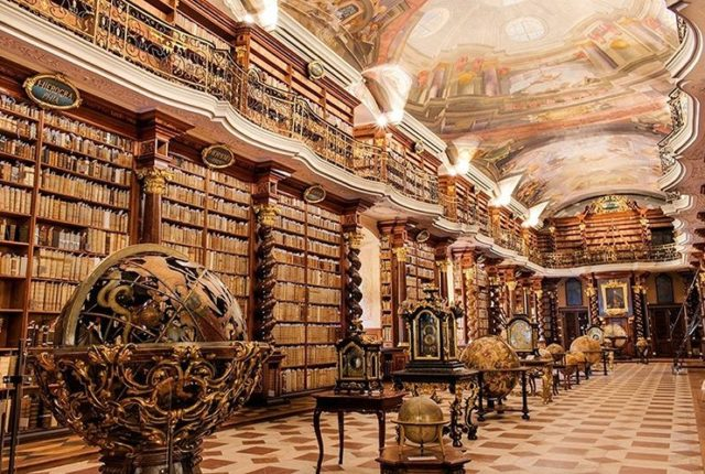 Klementinum, Baroque Library, Prague, Czech Republic