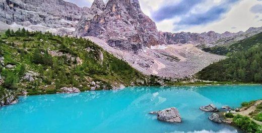 Lago di Sorapis, Dolomiti, Veneto, Italy