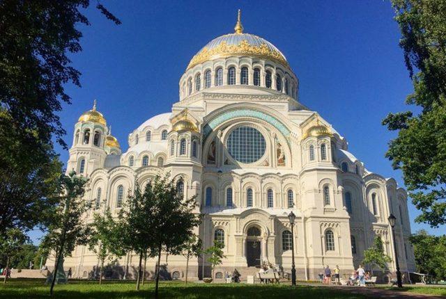 The Naval Cathedral of Saint Nicholas in Kronstadt, St. Petersburg, Russia