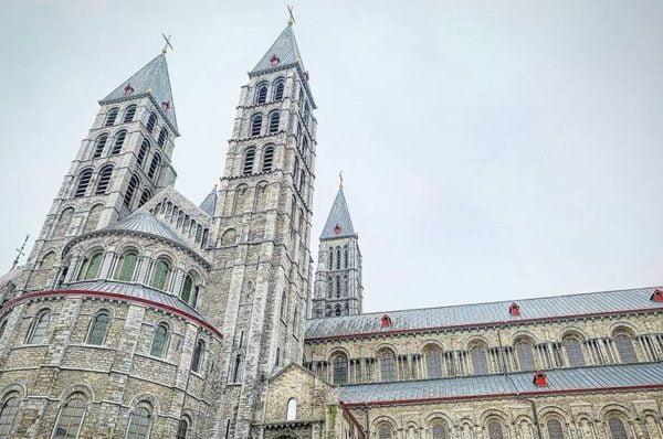 Notre-Dame Cathedral in Tournai, Belgium, World Heritage
