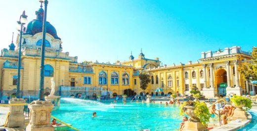 Széchenyi Baths and Pool, Budapest, Hungary
