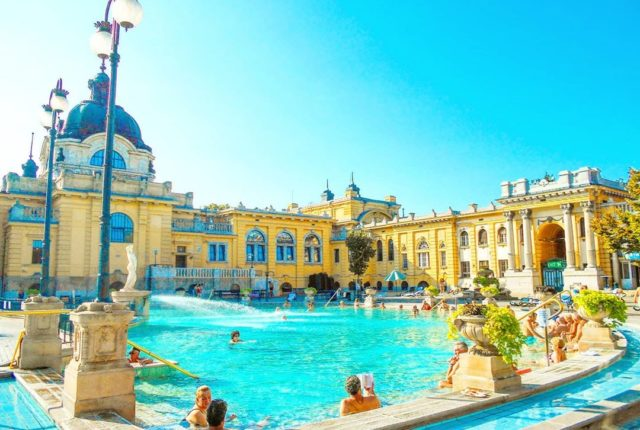 Széchenyi Baths and Pool, Budapest, Hungary