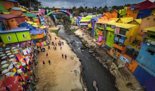 Jodipan Colorful Village, Kampung Warna Warni, Malang, Java, Indonesia