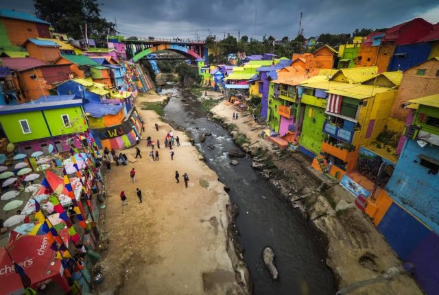Jodipan Colorful Village, Kampung Warna Warni, Malang, Java, Indonesia